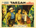 "Movie Posters:Action, Tarzan the Fearless (Principal Distributing, 1933). Lobby Card (11""X 14""). At the same time Johnny Weissmuller was swinging..."