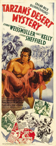 "Movie Posters:Adventure, Tarzan's Desert Mystery (RKO, 1943). Insert (14"" X 36"").Adventure...."