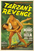 "Movie Posters:Adventure, Tarzan's Revenge (20th Century Fox, 1938). One Sheet (27"" X 41"").In trying to one-up Johnny Weissmuller's Tarzan, producer ..."
