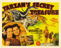 "Movie Posters:Adventure, Tarzan's Secret Treasure (MGM, 1941). Half Sheet (22"" X 28"").Fantastic graphics for one of the nicest looking posters featu..."