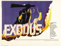 "Movie Posters:Drama, Exodus (United Artists, 1960). British Quad (30"" X 40""). Paul Newman and Eva Marie Saint headline an all-star cast in Otto P..."