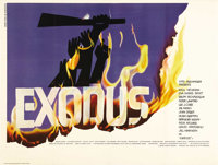 "Exodus (United Artists, 1960). British Quad (30"" X 40""). Paul Newman and Eva Marie Saint headline an all-star..."