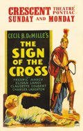 "Movie Posters:Drama, The Sign of the Cross (Paramount, 1932). Window Card (14"" X 22""). In Cecil B. DeMille's Roman epic, Claudette Colbert plays ..."