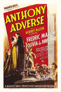 "Movie Posters:Adventure, Anthony Adverse (Warner Brothers, 1936). One Sheet (27"" X 41"").Based on the popular Novel by Hervey Allen, Fredric March pl..."