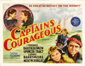 "Movie Posters:Adventure, Captains Courageous (MGM, 1937). Half Sheet (22"" X 28""). This film,based on Rudyard Kipling's classic novel, stars Spencer ..."