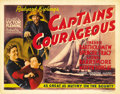 "Movie Posters:Adventure, Captains Courageous (MGM, 1937). Title Lobby Card and Lobby Cards(3) (11"" X 14""). Victor Fleming put Spencer Tracy through ...(Total: 4 Items)"