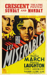 """Les Misérables (20th Century Fox, 1935). Window Card (14"""" X 22""""). One of the early screen versions of V..."""
