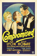 "Movie Posters:Comedy, Compromised (First National, 1931). One Sheet (27"" X 41""). This isa beautiful stone litho for an early First National drawi..."