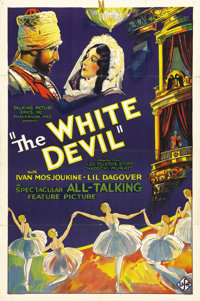 "The White Devil (Talking Picture Epics (UFA), 1931). One Sheet (27"" X 41"") Style A. The great Russian actor Iv..."