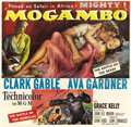 "Movie Posters:Adventure, Mogambo (MGM, 1953). Six Sheet (81"" X 81""). In a remake of the 1932adventure film ""Red Dust,"" Clark Gable is a safari leade..."