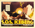 "Movie Posters:Adventure, S.O.S. Iceberg (Universal, 1933). Half Sheet (22"" X 28""). After theinternational success of ""White Hell of Pitz Palu"" and t..."