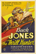 "Movie Posters:Western, The Thrill Hunter (Columbia, 1933). One Sheet (27"" X 41"").Fantastic stone litho artwork of Buck Jones in an airplane.Jones..."