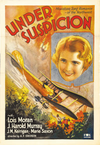 "Under Suspicion (Fox, 1930). One Sheet (27"" X 41""). Lois Moran stars in this melodrama that involves a love tr..."