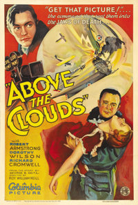 "Above the Clouds (Columbia, 1933). One Sheet (27"" X 41"") Style A. Robert Armstrong, of ""King Kong"" f..."