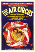 "Movie Posters:Adventure, The Air Circus (Fox, 1928). One Sheet (27"" X 41""). Howard Hawks wasa master storyteller; his ability to establish and susta..."