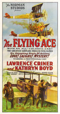 "Movie Posters:War, The Flying Ace (Norman Studios, 1926). Three Sheet (41"" X 81"").Norman Studios was famous for their all-black-cast films in ..."