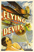 "Movie Posters:Drama, Flying Devils (RKO, 1933). One Sheet (27"" X 41""). When Merian C.Cooper was in charge of production at RKO, virtually every ..."
