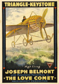 """Movie Posters:Comedy, The Love Comet (Triangle-Keystone, 1916). One Sheet (27"""" X 41""""). Joseph Belmont starred in a number of short silent comedies..."""