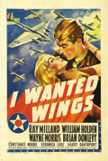 "Movie Posters:War, I Wanted Wings (Paramount, 1941). One Sheet (27"" X 41""). VeronicaLake's star-making role was in this actioner about Air Cor..."