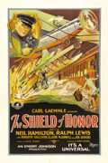 "Movie Posters:Crime, The Shield of Honor (Universal, 1927). One Sheet (27"" X 41""). Whenpolice departments first started considering airplane uni..."