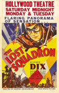 """Movie Posters:Drama, The Lost Squadron (RKO, 1932). Window Card (14"""" X 22""""). Richard Dixstars as a former World War I flying ace turned Hollywoo..."""