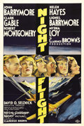 "Movie Posters:Drama, Night Flight (MGM, 1933). One Sheet (27"" X 41""). This suspensedrama was based on a novel by Antoine de Saint-Exupery. Rivie..."