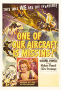 "Movie Posters:War, One of Our Aircraft is Missing (United Artists, 1942). One Sheet(27"" X 41""). This is the story of a British bomber crew tha..."