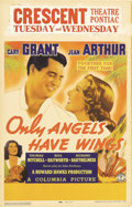 "Movie Posters:Drama, Only Angels Have Wings (Columbia, 1939). Window Card (14"" X 22"").Great poster for the classic Howard Hawks film starring Ca..."