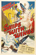 "Movie Posters:War, Ships with Wings (United Artists, 1942). One Sheet (27"" X 41"").Made as a British war-time propaganda film by Ealing Studios..."