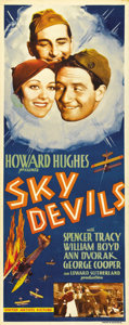 """Movie Posters:Comedy, Sky Devils (United Artists, 1932). Insert (14"""" X 36""""). Hoping tomatch the success of his boisterous (and Oscar-winning) sil..."""