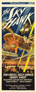 "Movie Posters:Drama, The Sky Hawk (Fox, 1929). Insert (14"" X 36""). The posters for many of the aviation pictures made in the early sound era were..."