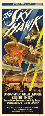 """The Sky Hawk (Fox, 1929). Insert (14"""" X 36""""). The posters for many of the aviation pictures made in the early..."""
