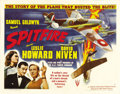 "Movie Posters:War, Spitfire (RKO, 1942). Half Sheet (22"" X 28"") Style A. LeslieHoward's last film was this action-filled true story of the dev..."