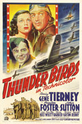 """Movie Posters:War, Thunder Birds (20th Century Fox, 1942). One Sheet (27"""" X 41"""").William Wellman would make a career directing pictures that i..."""