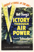 """Movie Posters:War, Victory Through Air Power (United Artists, 1943). One Sheet (27"""" X41""""). The film that persuaded FDR to pursue strategic bom..."""