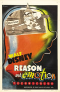 "Movie Posters:Animated, Reason and Emotion (RKO, 1943). One Sheet (27"" X 41""). The WaltDisney Studios produced this propaganda cartoon short and re..."
