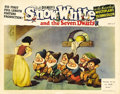 "Movie Posters:Animated, Snow White and the Seven Dwarfs (RKO, 1937). Lobby Card (11"" X14""). Great cartoon art from the orignal release of this grou..."