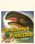 "Movie Posters:Animated, Pinocchio (RKO, 1940). Jumbo Window Card (22"" X 28""). In order to promote Walt Disney's second animated feature, RKO issued ..."