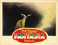 """Fantasia (RKO, 1940). Lobby Card (11"""" X 14""""). Classic shot of Mickey Mouse from the """"Sorcerer's Apprentic..."""