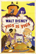 "Movie Posters:Animated, Pigs is Pigs (RKO, 1954). One Sheet (27"" X 41""). Walt Disney'sadaptation of the classic Elias Parker Butler story is presen..."
