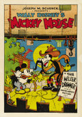 "Movie Posters:Animated, Mickey's Mellerdrammer (United Artists, 1933). One Sheet (27"" X41""). In 1931, production costs on Walt Disney's animated sh..."