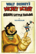 "Movie Posters:Animated, The Brave Little Tailor (RKO, 1938). One Sheet (27"" X 41""). This is a true rarity! By 1938, the majority of cartoons that fe..."