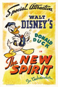 "Movie Posters:Animated, The New Spirit (RKO, 1942). One Sheet (27"" X 41""). Donald Duckstars in this World War II era animated documentary about the..."
