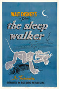 "Movie Posters:Animated, The Sleep Walker (RKO, 1942). One Sheet (27"" X 41""). Mickey Mouse's dog Pluto had become so popular over the years with his ..."