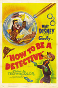 "Movie Posters:Animated, How to be a Detective (RKO, 1952). One Sheet (27"" X 41""). Goofyplays Johnny Eyeball, Private Eye, in this funny spoof of de..."