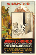 "Movie Posters:Animated, Johnny's Romeo/See America First Combo (Mutual, 1916). One Sheet (27"" X 41""). During the 1910s, long before Michael Caine ma..."