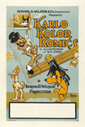 """Movie Posters:Animated, Karlo Kolor Komics Stock Poster (Sering D. Wilson, 1925). One Sheet (27"""" X 41""""). Sering D. Wilson, one of the animation pion..."""