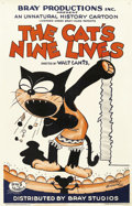 "Movie Posters:Animated, The Cat's Nine Lives (Bray Studios, 1927). One Sheet (27"" X 41"").Bray Studios began making animated shorts in 1913 and woul..."