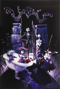 """The Nightmare Before Christmas (Touchstone, 1993). Alternate Lenticular One Sheet (27"""" X 41""""). As if the advan..."""