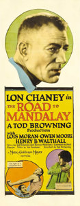 "Movie Posters:Horror, The Road to Mandalay (MGM, 1926). Insert (14"" X 36""). Lon Chaneyand his favorite director, Tod Browning, collaborated on ye..."